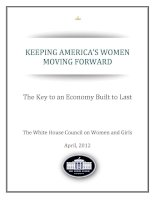 KEEPING AMERICA'S WOMEN MOVING FORWARD - The Key to an Economy Built to Last ppt