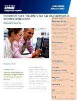 Investment Fund Regulatory and Tax developments in selected jurisdictions pptx