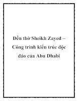 Đền thờ Sheikh Zayed – Công trình kiến trúc độc đáo của Abu Dhabi doc