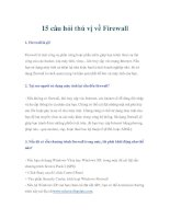 15 câu hỏi thú vị về Firewall pptx