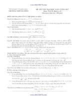 ĐỀ THI THỬ ĐẠI HỌC LẦN 1 NĂM 2013 Môn: TOÁN; Khối A, B - THPT BA ĐÌNH docx