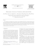 electronic structure of titanium oxide nanotubules