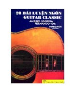 20 Bài luyện ngón guitar calssic docx