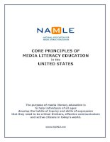 CORE PRINCIPLES OF MEDIA LITERACY EDUCATION in the UNITED STATES potx