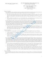 BỘ GIÁO DỤC VÀ ĐÀO TẠO KỲ THI CHỌN HỌC SINH GIỎI QUỐC GIA LỚP 12 THPT NĂM 2011 ĐÁP ÁN ĐỀ THI CHÍNH THỨC Môn: SINH HỌC doc