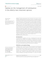 Update on the management of constipation in the elderly: new treatment options doc