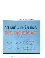 Cơ chế và phản ứng hóa học hữu cơ (tập 2) potx