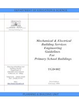 Mechanical & Electrical Building Services Engineering Guidelines For Primary School Buildings TGD 002 potx