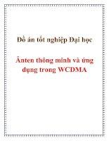 Đồ án tốt nghiệp Đại học Ănten thông minh và ứng dụng trong WCDMA pptx