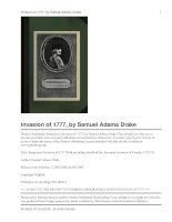 Burgoyne''''s Invasion of 1777 With an outline sketch of the American Invasion of Canada, 1775-76. pot