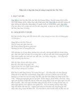 Phân tích vẻ đẹp hào hoa, bi tráng trong bài thơ Tây Tiến pdf