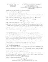 đề thi thử đại học môn toán năm 2014 lần 2