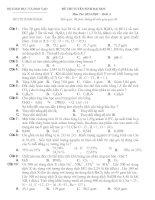 Đề Thi Thử Đại Học Khối A, B Hóa 2013 - Phần 12 - Đề 36 potx