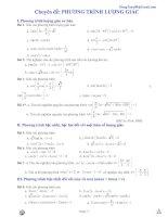 bài tập chuyên đề phương trình lượng giác lớp 11