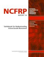 Guidebook for Understanding Urban Goods Movement docx