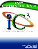 2007 INTERNET CRIME REPORT: IC3 INTERNET CRIME COMPLAINT CENTER pptx