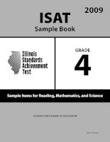 ISAT Sample Book 4: Sample Items for Reading, Mathematics, and Science 2009 pot