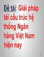 Giải pháp tái cấu trúc hệ thống Ngân hàng Việt Nam hiện nay