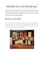 Điều kiện để có một căn bếp đẹp? ppt