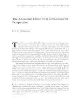 The Economic Crisis from a Neoclassical Perspective pptx