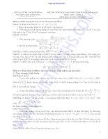 ĐỀ THI THỬ ĐẠI HỌC LẦN I NĂM 2013 môn toán khối A TRƯỜNG THPT BỈM SƠN doc
