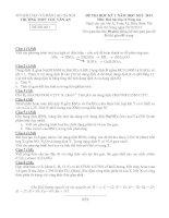 Đề thi học kì 1 môn Hóa 11 cơ bản trường Chu Văn An pot