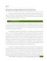 wpf-lesson 1 - BỐ TRÍ GIAO DIỆN TRONG ỨNG DỤNG WPF