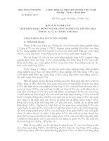 BÁO CÁO TÓM TẮT TÌNH HÌNH HOẠT ĐỘNG NGÀNH CÔNG NGHIỆP VÀ THƯƠNG MẠI THÁNG 11 VÀ 11 THÁNG NĂM 2012 pdf
