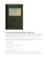 Of Natural and Supernatural Things docx