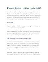 Dọn dẹp Registry có thực sự cần thiết? doc