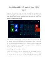 Bạn không nhất thiết phải sử dụng Office 2013? doc