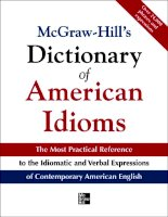 McGraw Hill''''s Dictionary of american idioms and phrasal verbs
