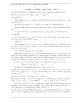 GIẢI BÀI TẬP HÓA PHÂN TÍCH - CHƯƠNG 7 PHƯƠNG PHÁP KHỐI LƯỢNG