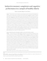 Subjective memory complaints and cognitive performance in a sample of healthy elderly pot