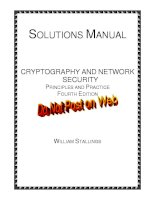 CRYPTOGRAPHY AND NETWORK SECURITY PRINCIPLES AND PRACTICE FOURTH EDITION pptx