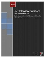 Net Interview Questions Quick Reference and FAQ docx