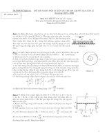 Đề thi học sinh giỏi vật lý tỉnh nghệ an đề 8