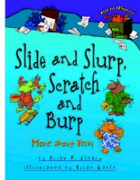 Slide and slurp, scratch and burp  more about verbs (words are categorical)