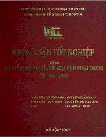 Ảnh hưởng của Văn hóa đến hoạt động ngoại thương Việt Nam - ASEAN