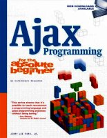 course technology ajax programming for the absolute beginner (2009)