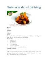 Sườn non kho củ cải trắng pot