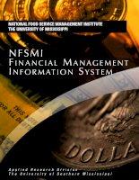NFSMI FINANCIAL MANAGEMENT INFORMATION SYSTEM pot