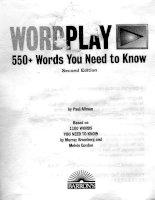 Wordplay 550+ Words You nedd to Know pdf