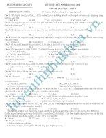 Luyện thi hóa cấp tốc môn hóa học khối A năm2010 số 10