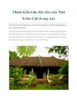 Thăm kiến trúc độc đáo của Nhà Trăm Cột (Long An) pdf