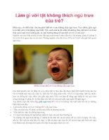 Làm gì với tật không thích ngủ trưa của trẻ? pdf