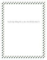 Tuyển tập những bài ca dao chủ đề lòng hiếu thảo pptx