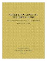 ADULT EDUCATION (ESL TEACHERS GUIDE)