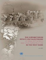 THE HUMANITARIAN IMPACT ON PALESTINIANS OF ISRAELI SETTLEMENTS AND OTHER INFRASTRUCTURE IN THE WEST BANK doc