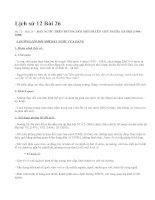 Lịch sử 12 Bài 26